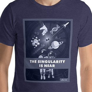 Science fiction T-shirt The singularity is near